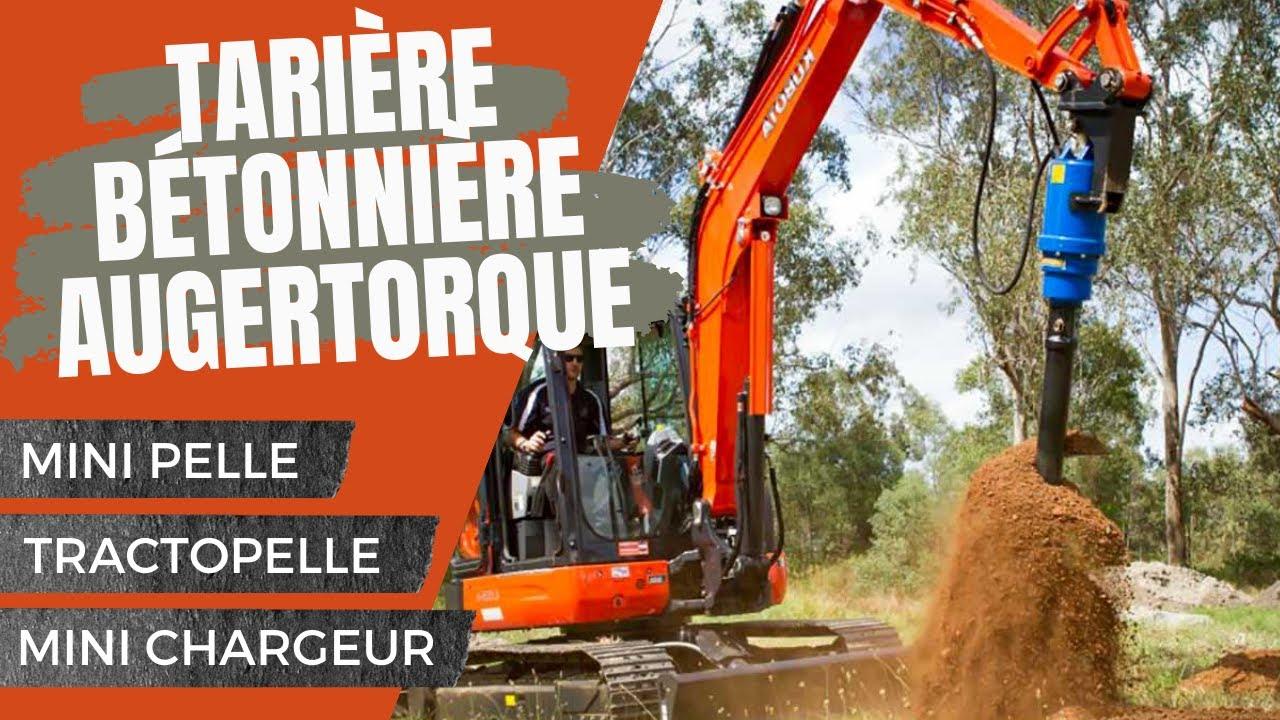 Tariere betonniere auger torque minipelle tractopelle minichargeur ...