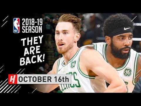 Kyrie Irving & Gordon Hayward Full Highlights Celtics vs 76ers 2018.10.16 - The RETURN!