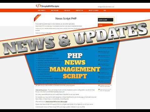 Add A News Page To Your Website - Php News Management
