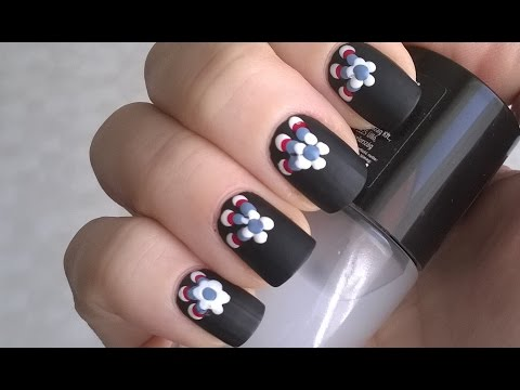 DIY Matte Black Nail Polish Designs