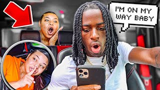 "HIDING In My Boyfriend's CAR While He ""RUNS ERRANDS!"" ** I CAUGHT HIM! **"