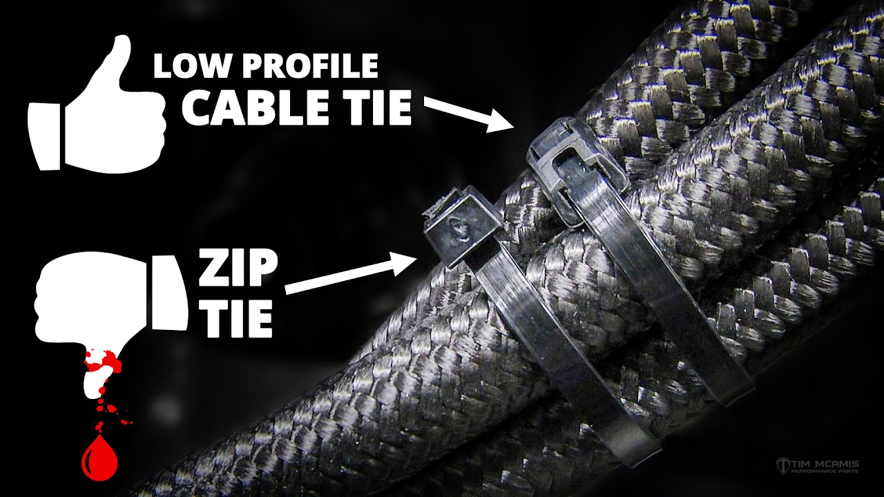 Low Profile Cord : Low profile cable ties youtube