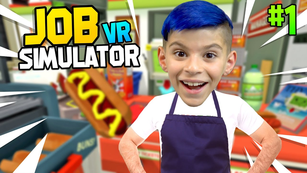 I QUIT YOUTUBE... TO BE A STORE CLERK! Job Simulator VR