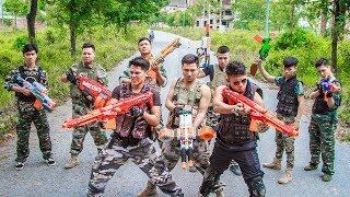 LTT Nerf War : SEAL X Warriors Nerf Guns Fight Criminal Group Dangerous Weapons High Level