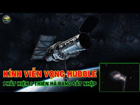 Kính viễn vọng không gian Hubble phát hiện 3 Thiên hà đang sát nhập | Khoa học vũ trụ - Top thú vị |