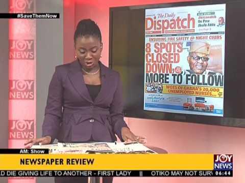 AM Show Newspaper Headlines on Joy News (16-5-17)