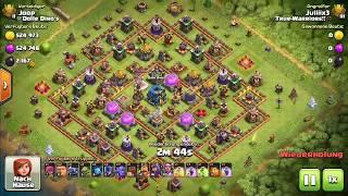 rh 11 vs rh12 (3 star attack) - Clash of Clans