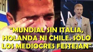"""Liberman sobre Italia fuera del Mundial le pega a los que festejan y a Zlatan: """"Mediocres festejan"""""""