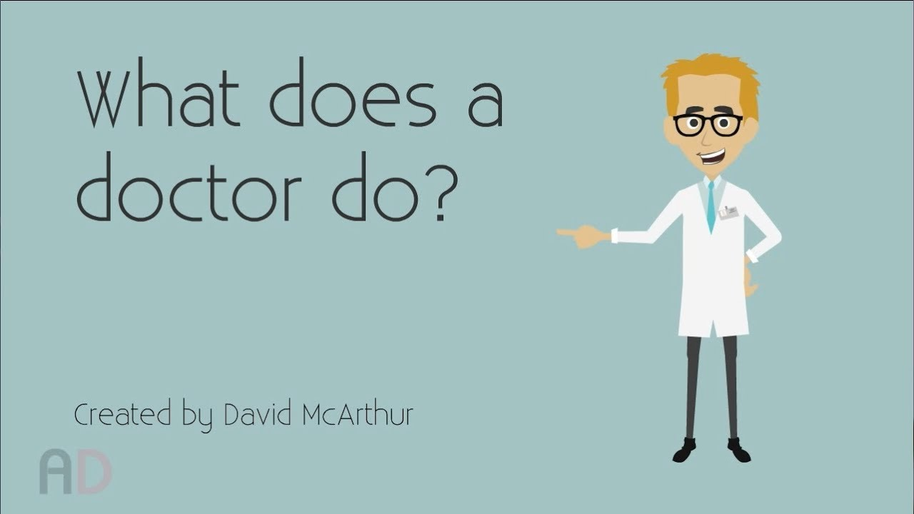 what does a doctor do? pre-school educational video - youtube, Human Body