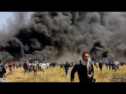 Clashes erupt as protests begin along Gaza border