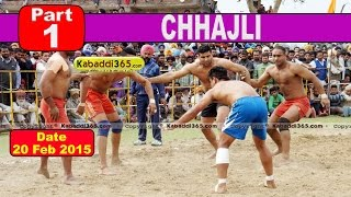 Chhajli (Sangrur) Kabaddi Tournament 20 Feb 2015  Part 1 by Kabaddi365.com