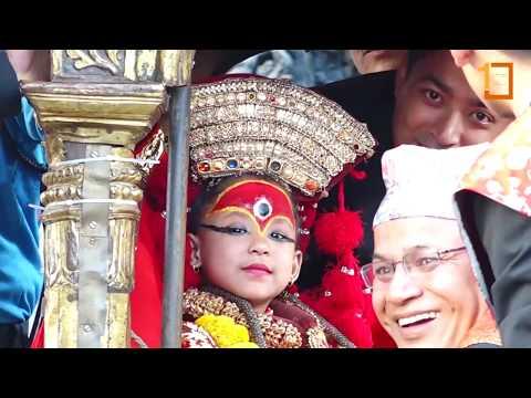 यस्तो रह्यो चार वर्षीया जीवित देवी कुमारीको पहिलो रथयात्रा