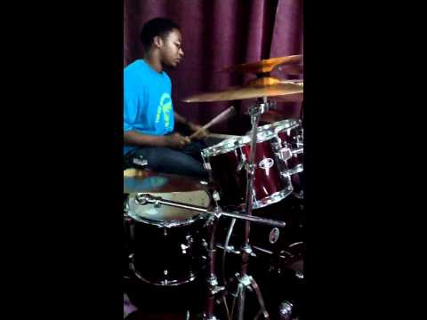 Brent Hoyte on drums...playing after church