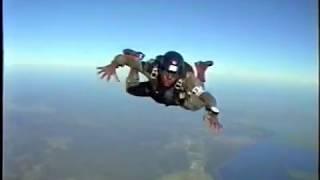 Salto de aluno Fuzileiro naval Opesp. Pqdt. Montanha Salto livre-Sky Dive-Marine-brazilian-Student