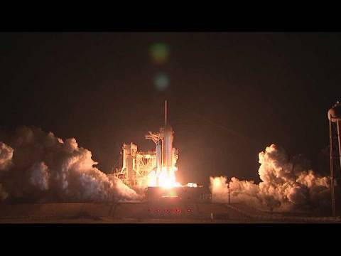 space shuttle landing at night - photo #20