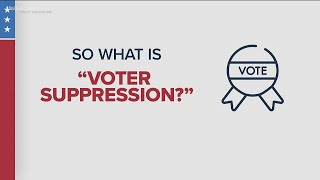 What is voter suppression?