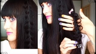 Прическа для РАСПУЩЕННЫХ волос /БЫСТРАЯ ПРИЧЕСКА/плетение