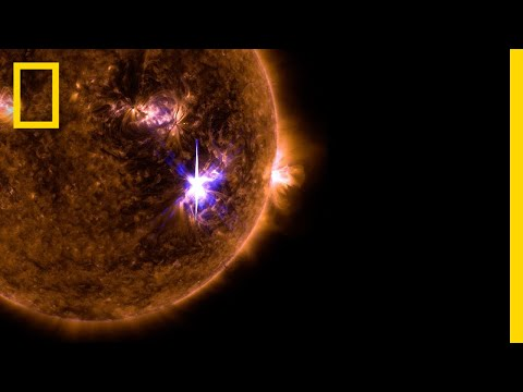 Watch the Sun Blast Out the Biggest Solar Flare in a Decade  National Geographic