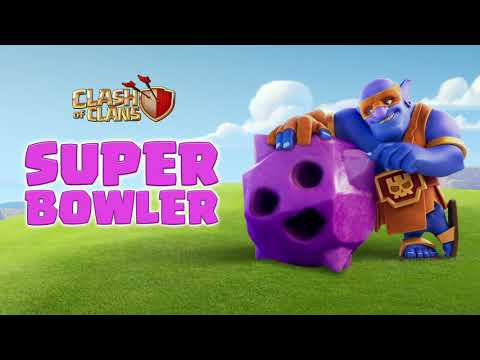 SUPER BOWLER Enters The Clash Bowling Lane! (Clash of Clans Official)
