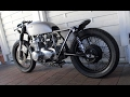 Marving Exhaust - first engine start | Honda CB 550 Cafe Racer | 550moto.com