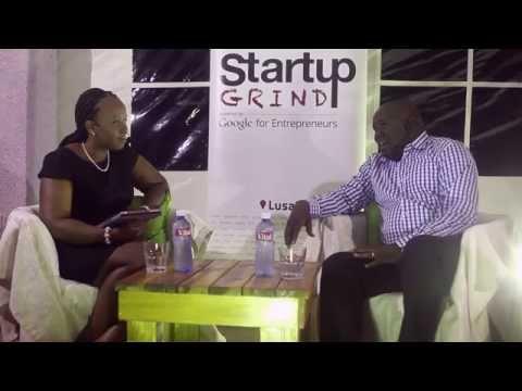 Moses Nyama (Q FM) at Startup Grind Lusaka