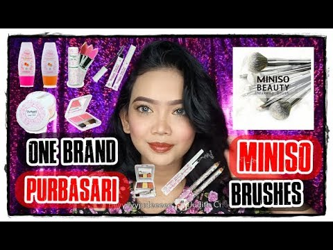 one-brand-makeup-tutorial-#11:-purbasari-daily-series-using-miniso-brushes