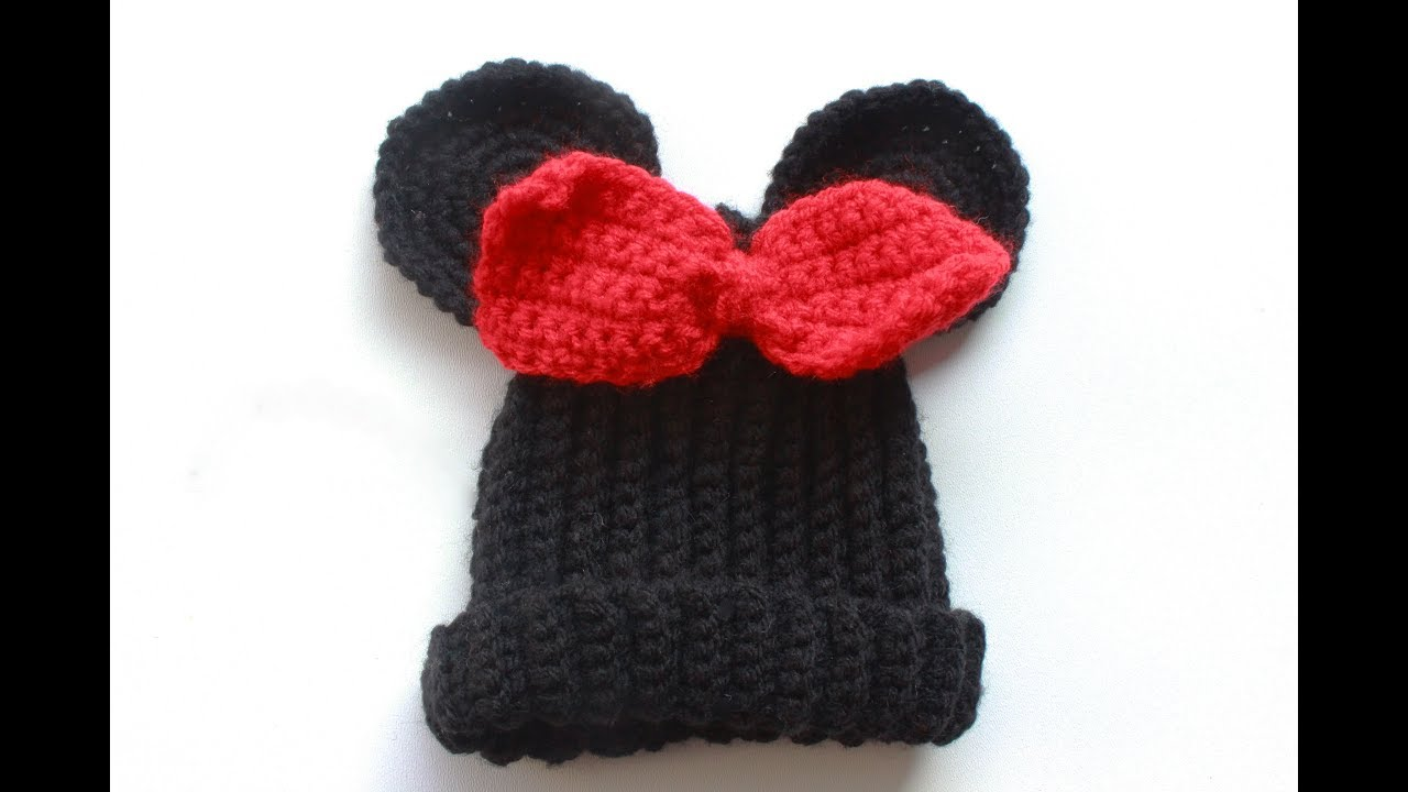 Crochet Minnie Mouse Hat Youtube