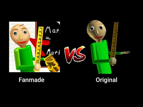 Fanmade Baldi's basics vs Original Baldi's basics (Android battle)