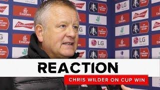 Chris Wilder | Sheffield United v AFC Fylde | FA Cup reaction interview
