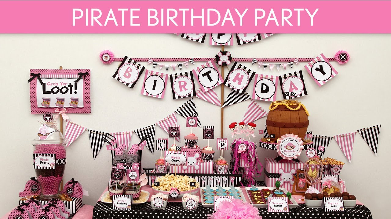 Pirate Birthday Party Ideas Girl Pink Black