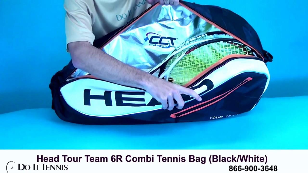Head Tennis Bag >> Head Tour Team 6R Combi Tennis Bag - YouTube