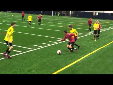 SOCCER VIDEO Windsor VH Academy vs Michigan Wolves DCDHS Fieldhouse Beverly Hills MI Feb 8 2016