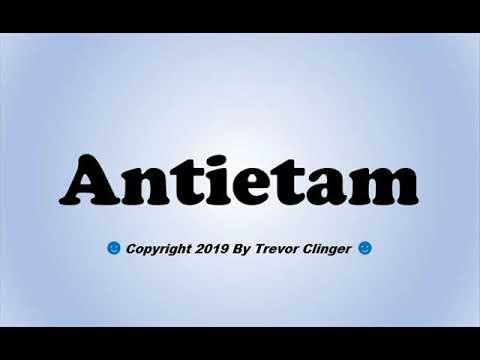 How To Pronounce Antietam - 동영상