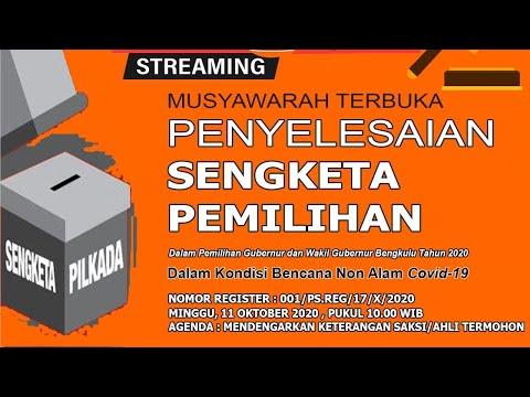 Sidang Musyawarah Terbuka Agenda Mendengarkan Keterangan Saksi/Ahli Termohon Part 1 | 11 Okt 2020