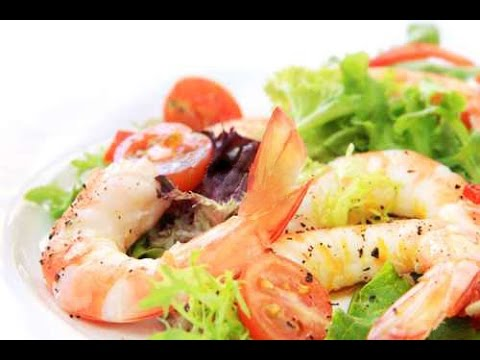 Постный Салат с креветками и авокадо - Постное меню  / Shrimp Avocado Salad Recipe