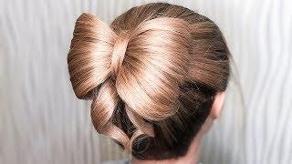 🌿КРАСИВАЯ ПРИЧЕСКА НА ВЫПУСКНОЙ / ПОСЛЕДНИЙ ЗВОНОК🌿БАНТ🌿Amazing Prom Bow Hairstyles 🌿 ©LOZNITSA