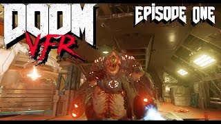 DOOM VFR: Full Playthrough / Guide [Part 1: UAC Adminiastration] (VR gameplay, no commentary)