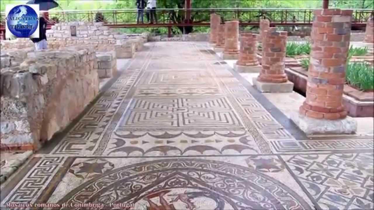 mosaicos romanos de conimbriga portugal youtube