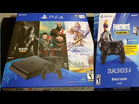 Unboxing Playstation Ps4 1tb Console Bundle And Fortnite  Dualshock Wireless Controller  For PS4