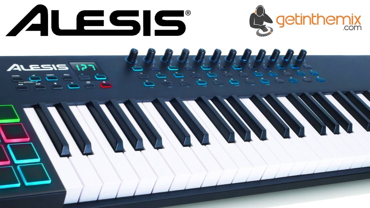 alesis vi49 usb controller keyboard with drum pad youtube. Black Bedroom Furniture Sets. Home Design Ideas
