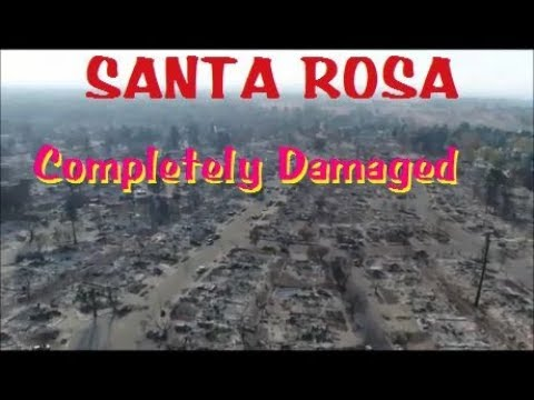 SANTA ROSA FIRES Complete Coffey Park Fire Damage (Fly Over) HD Video Footage1