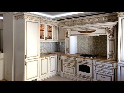 Дизайн кухни гостиной. Кухня современная классика