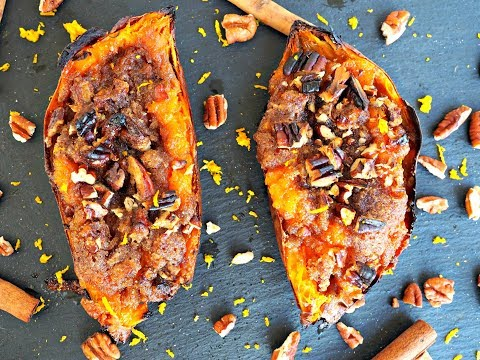Side Dish Recipe: Twice Baked Sweet Potatoes by Everyday Gourmet with Blakely