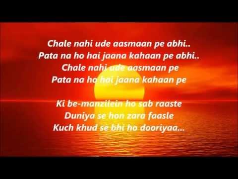 Sooraj Dooba Hai YaaronKaraoke With lyrics ROY Arijit Singh & Aditi Singh Sharma By Arjun Subba