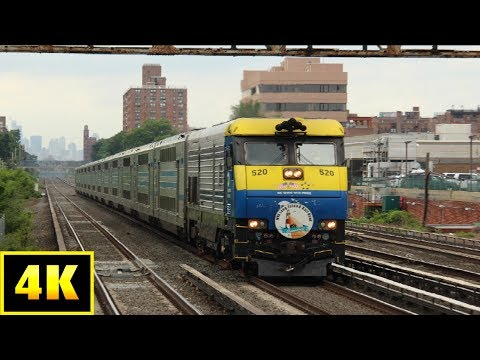 4K LIRR a Long Friday Rush Hour at Forest Hills