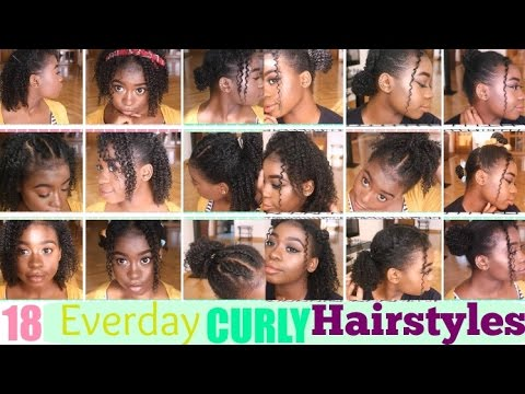 18 CURLY Hairstyles For SHORT/MEDIUM Natural Hair - YouTube