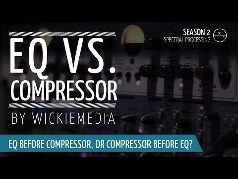 Compress before EQ? or Equalizing before Compression?