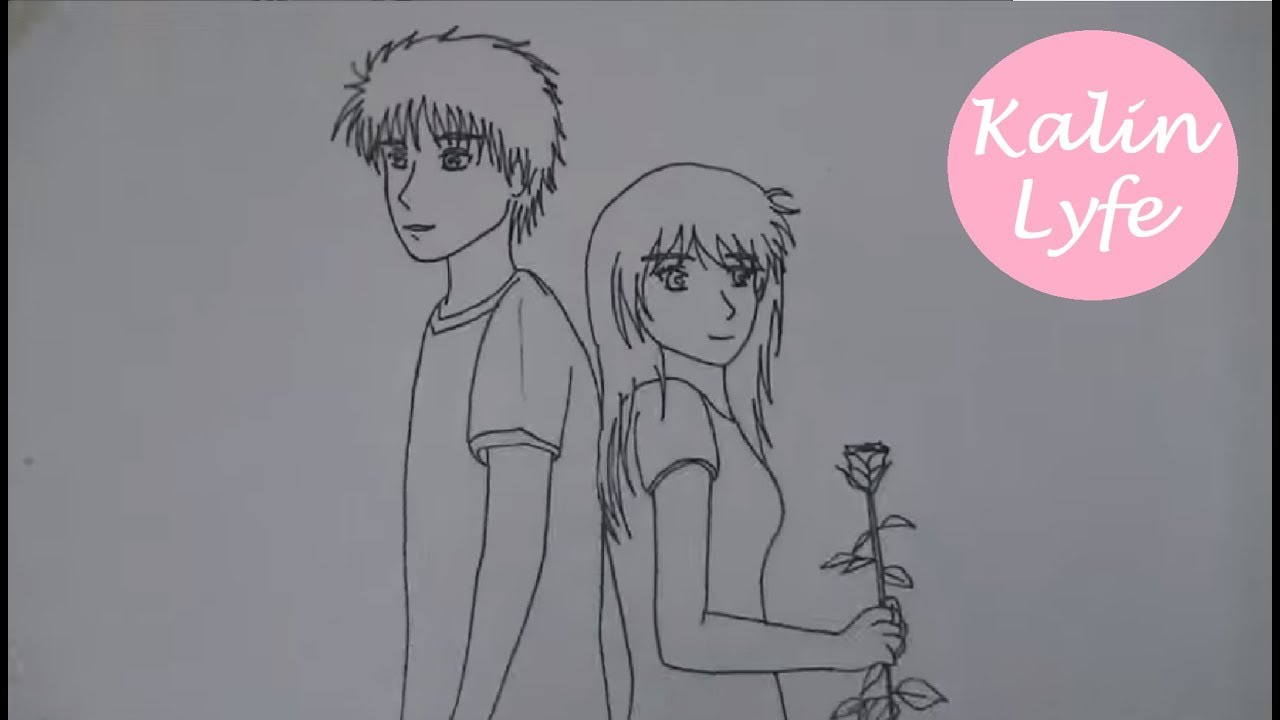 Ep2 drawing an anime couple