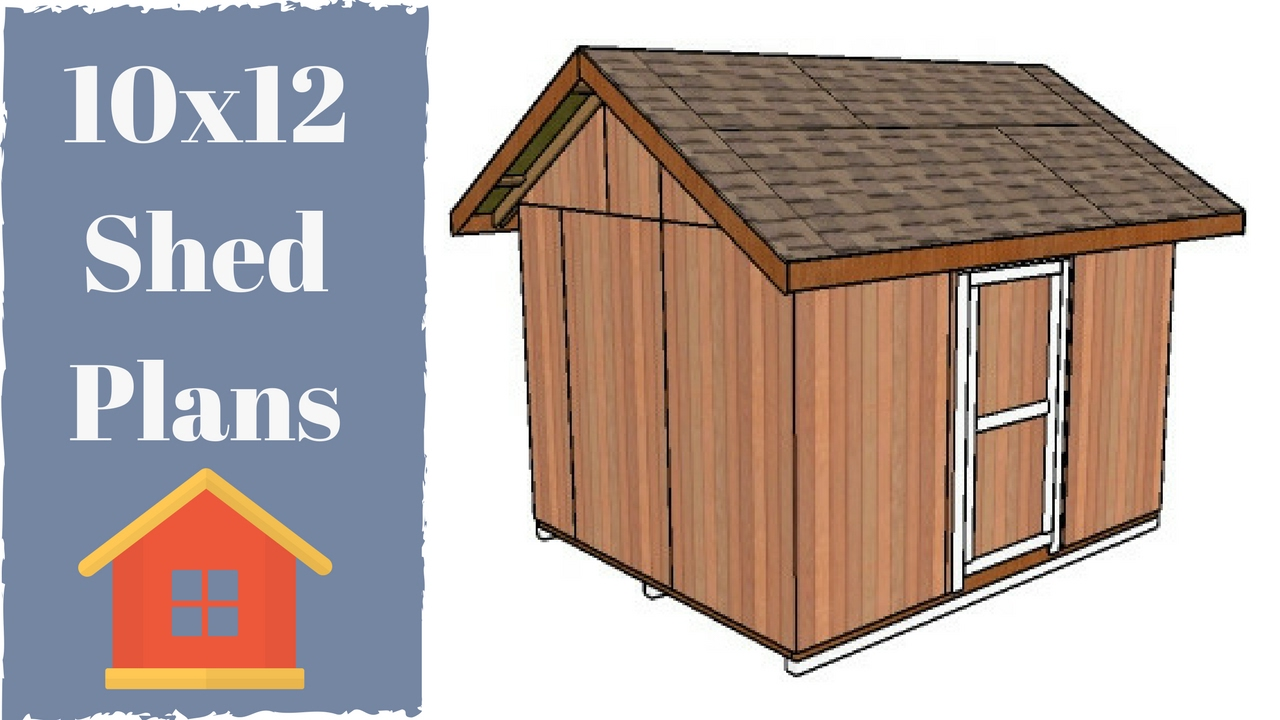 10x12 Shed Plans Free Youtube