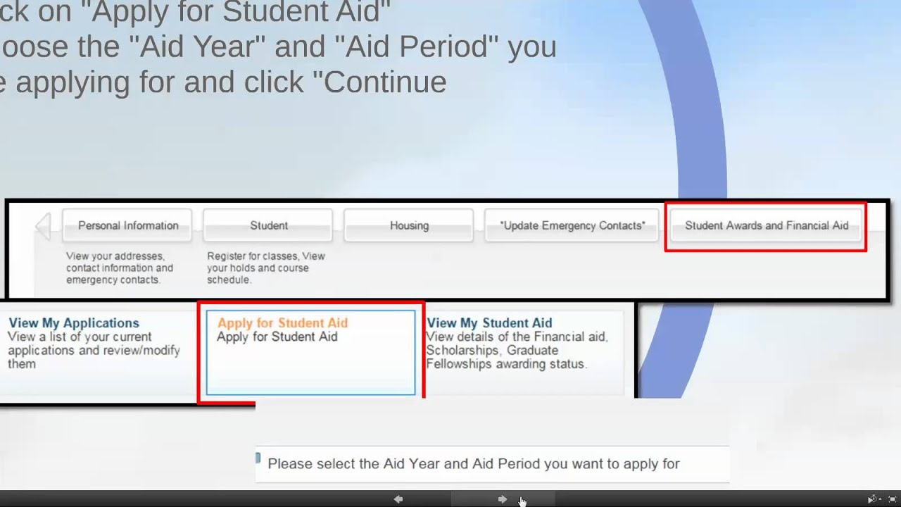 how to apply for financial aid at the american university in cairo